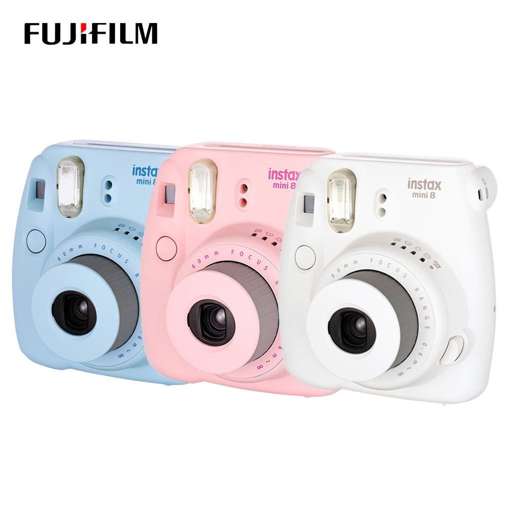 Original Fujifilm Instax Mini 8 Camera Film Camera Photo Instant Camera Fixed Focus Large Format Camera Blue White Pink