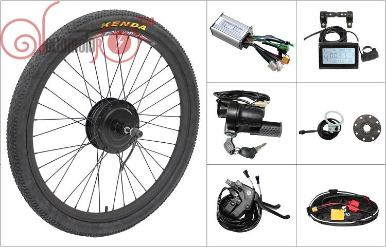 Free shipping 48v 500w 8fun bafang freehub cassette type for Electric bike rear hub motor