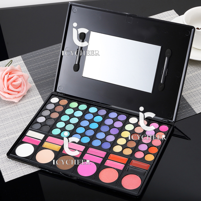 78 Colors Makeup Eye Shadow Blusher Shadding Powder Concealer Lipgloss Eyeshadow