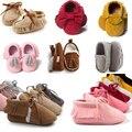 21 стилей Весна Autum Детская Обувь Новорожденных Мальчиков Девушки PU Замши Мокасины Малыш Кисточкой Первые Ходунки