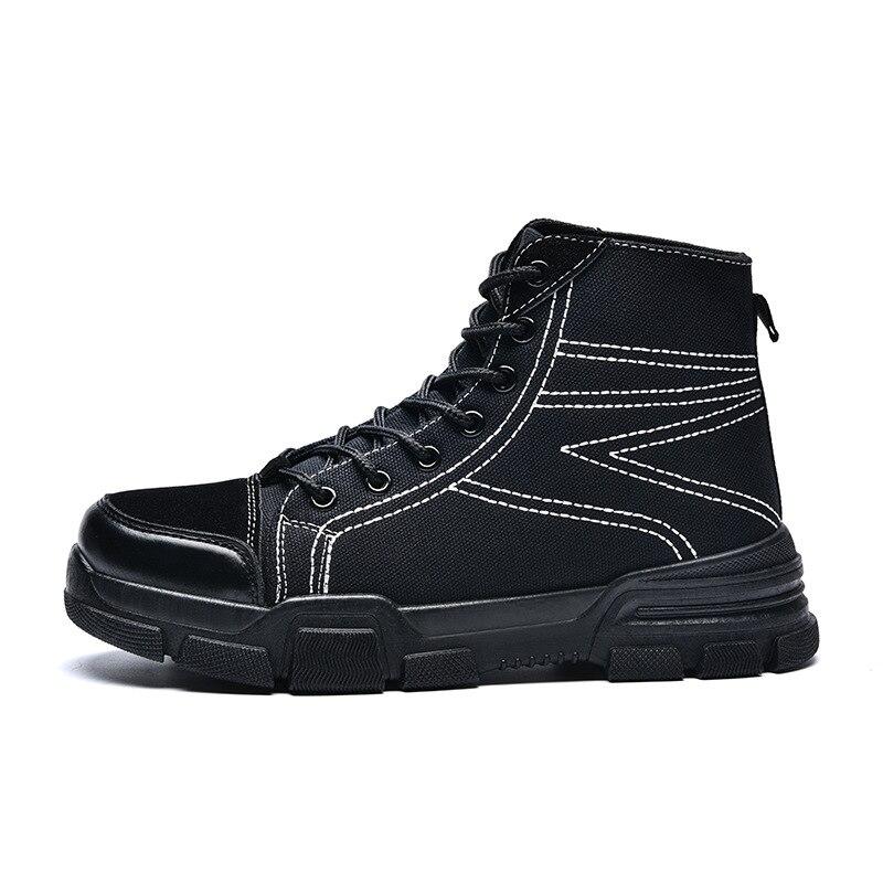 Tous Bas Bottes noir Les Top Hommes khaki Neige Noir Beige Martin Haute 2018 Style Vintage Plein Épais En Chaussures Hiver Denim Air Automne Sneakers 7nBSwqHSx