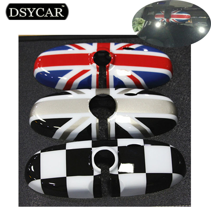 1Pcs Rearview Mirror Cover Interior View Mirror Shell Cover Car-styling For BMW Mini all series Union Jack Checkered Islamabad
