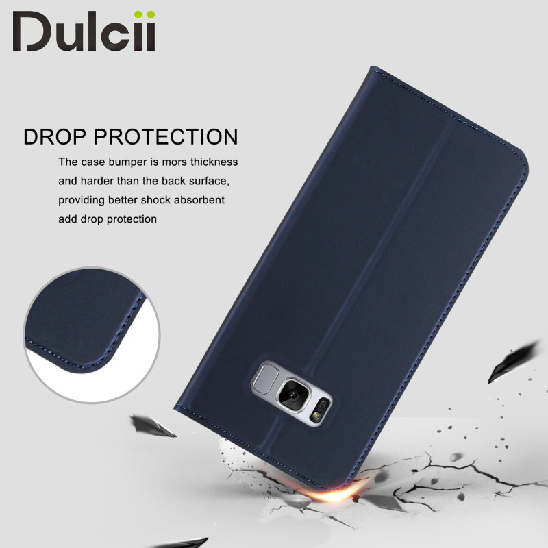 For Samsung Galaxy S8 G950 Leather Cases Card Slot Leather Mobile Phone Case Cover for Samsung
