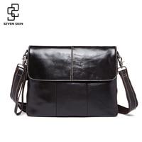 100 Genuine Cowhide Leather Messenger Bag Men Fashion Vintage Design Corssbody Shoulder Bag Male Business Handbag