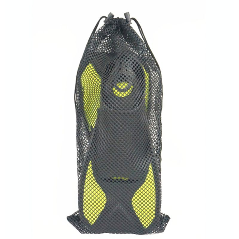 Men Women Durable Mesh Pouch Drawstring Bag Outdoor Diving Surfing Swimming Snorkeling Fins Footwear
