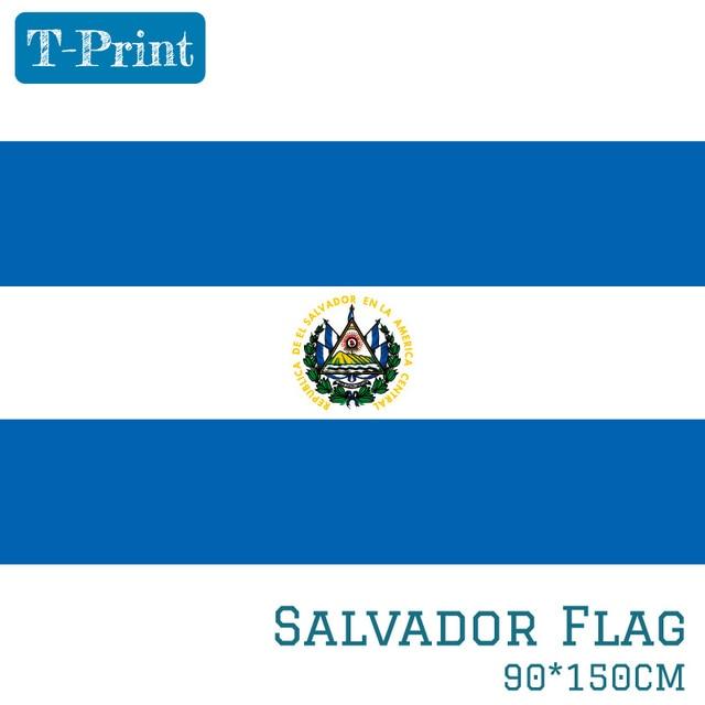 El Salvador Bendera Nasional 90X150 Cm 60X90 Cm Polyester 3x5ft Bendera Salvador