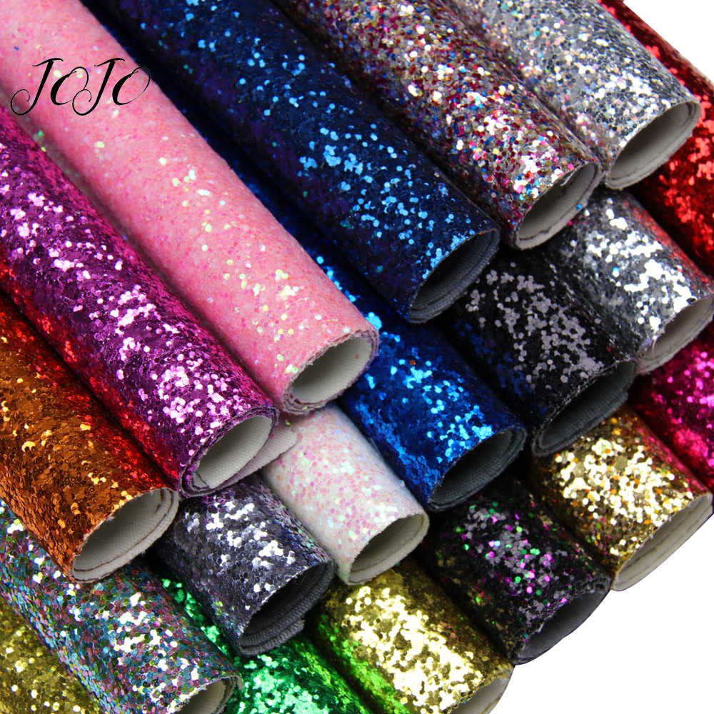 JOJO BOWS 22*30cm Shiny Glitter Sequin Fabric Solid Bright For Apparel Sewing DIY Hairbows Accessories Holiday Party Decoration