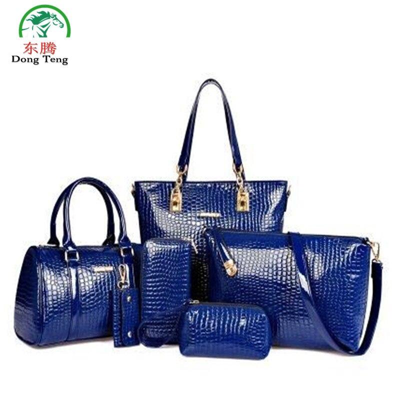 composite bags 3 in 1 Fashion luxury designer crocodile PU leather Tote Shoulder Satchel/Messenger Clutches brand handbags DT121