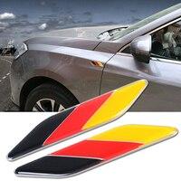2pcs Germany Italy England France US National Flag Fender Side Decoration Metal Emblem Badge Decal Sticker