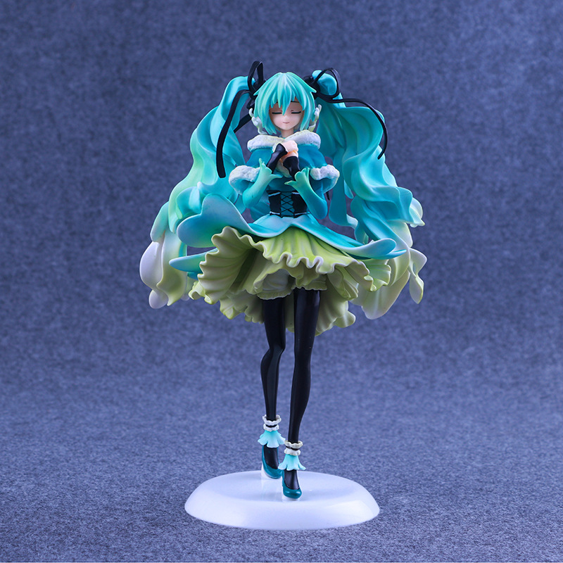 Anime Toy 1/7 Snow in Summer Hatsune Miku Action Figure Big VOCALOID Miku Model vocaloid 3 hatsune miku kaito cosplay shoes anime boots