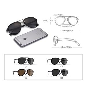 Image 4 - AOFLY di DISEGNO di MARCA Pilot Occhiali Da Sole Polarizzati Uomini di Guida Occhiali Da Sole UV400 Unico Cornice Ovale Occhiali Gafas De Sol AF8115