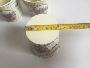 Image 5 - 6Pcs/Lot D10.5xH10CM Round Mini Vase Metal Table Centrepieces Lavender Design Flowerpot Flower pots SF 067