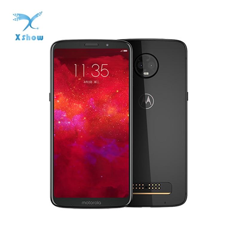 Смартфон Motorola MOTO Z3, 5,5 дюймовый экран, Snapdragon835, NFC, 6 ГБ ОЗУ 6,01 Гб ПЗУ, 2 тыловых камеры, Android 128, мобильный телефон со сканером отпечатков пальцев Смартфоны и мобильные телефоны      АлиЭкспресс