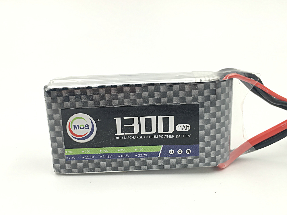 MOS 6S lipo battery 22.2v 1300mAh 40C For airplane  free shipping greg harvey excel 2016 for dummies