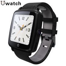 Original Uwatch U11C Smartwatch Leather Strap Support Nano SIM TF Card Bluetooth Connected Smart Watch for