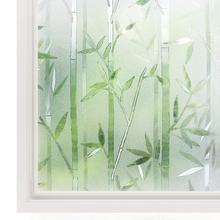 3D Privacy Window Film No Glue Static Cling Vinyl Glass Bamboo Frosted Films Decorative