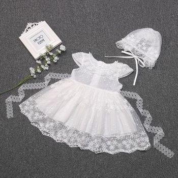 2019 Summer Baby Girl Dress Lace Christening Dress White