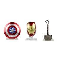 3 pcs Conjunto Escudo Capitão América Thor Martelo Tony Stark Decoração Definir Frete Grátis