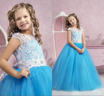 High Quality Custom Made Flower Girls Dresses for Wedding Puffy Tulle Girls First Communion Dress Free Shipping Size 2-16
