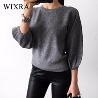 Wixra Warm And Charm 2017 New Fashion Women Thick Pullover Sweater Lady Boat Neck Batwing Sleeve