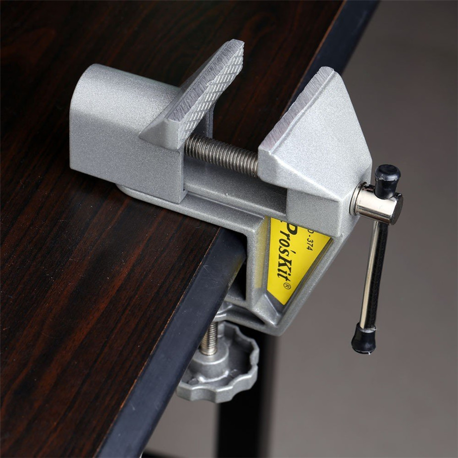 Free shipping Proskit PD-374 Mini table vise Multi-functional small metal vise / bench vice,table vice OPENING 40mm Width 60mm