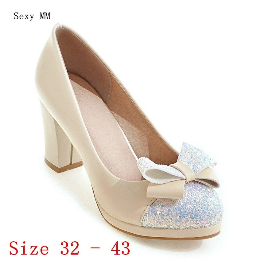 Women High Heel Shoes Platform Pumps Woman High Heels Party Wedding Shoes Kitten Heels Small Plus Size 32 33 - 40 41 42 43