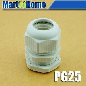 20 шт./лот PG25 водонепроницаемый нейлоновый разъем PG кабельный ввод Dia. 16 ~ 21 мм белый