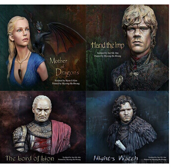1 10 Scale Models A Song of Ice and Fire 4 person suite Resin Bust Model