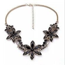 2016 New necklace Jewelry Flower Pendant Woman Lady Rhinestone Trendy High Quality Beautiful