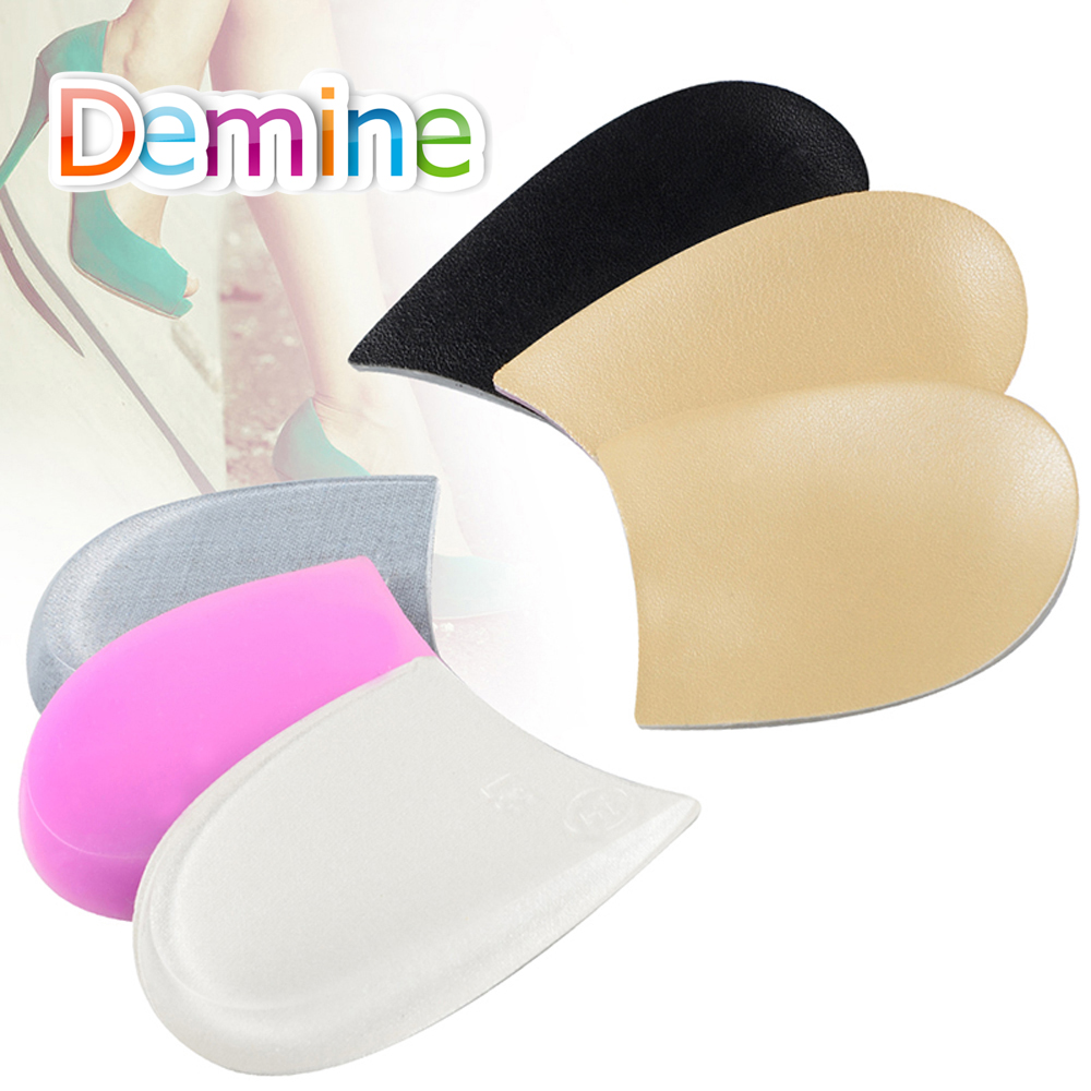 Demine Silicone Gel Orthotic Heel Pads for Correct O/X Leg Valgus Varus Heels Cup Orthopedic Shoes Pad Foot Pain Cushion Inserts soumit gel unisex o x leg valgus varus corrector orthotic insoles foot pads heel correction pads flatfoot support insert insoles