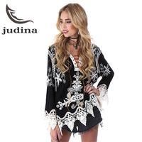 Sexy Vrouwen Bikini Cover-ups lady bikini mouwen lace hollow chemise middeleeuwse witte boer blouse Gypsy Festival