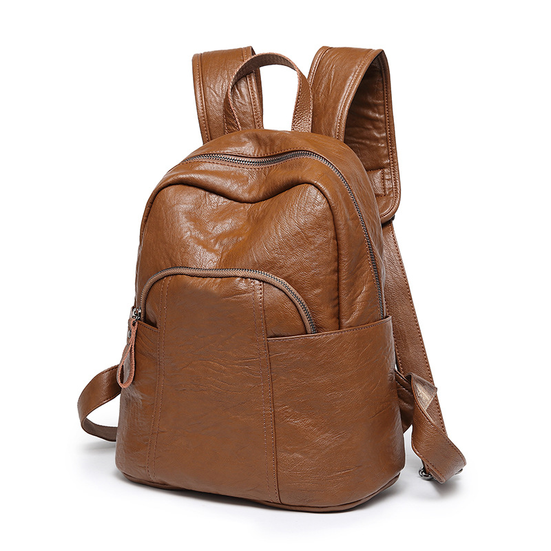 Fashion Genuine Leather Backpack Woman Female Travel Backpack Large Capacity For Girls Schoolbag Casual Mochila FemininaFashion Genuine Leather Backpack Woman Female Travel Backpack Large Capacity For Girls Schoolbag Casual Mochila Feminina