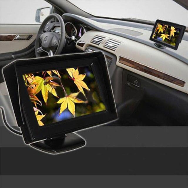 4.3 Дюймов ЖК-Экран Автомобилей Автомобилей DVD VCR Игроки Заднего Вспять Монитор