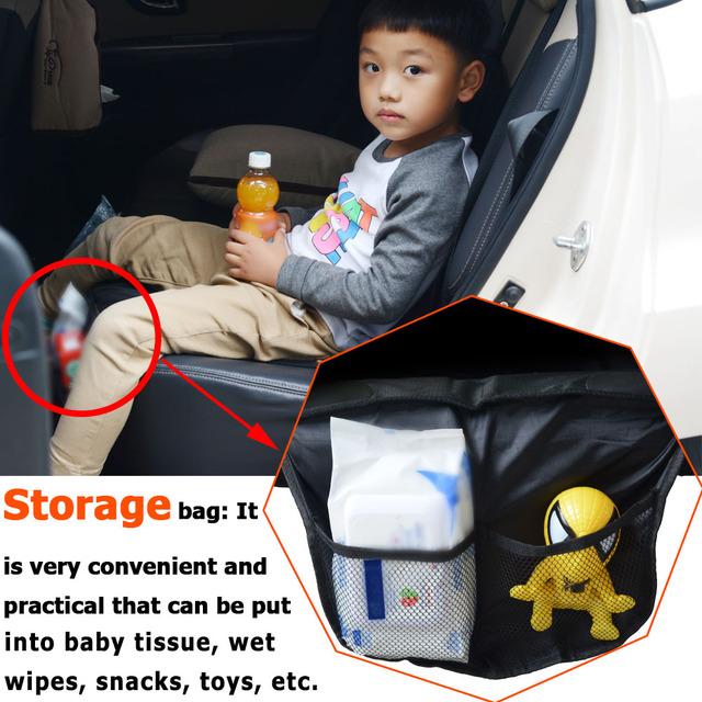 Non slip Mat Capa Impermeável e Respirável Evitar Riscos de Segurança do bebê Crianças dos miúdos Bota Organizador Coisas Do Carro Sacos de Armazenamento De Alimentos