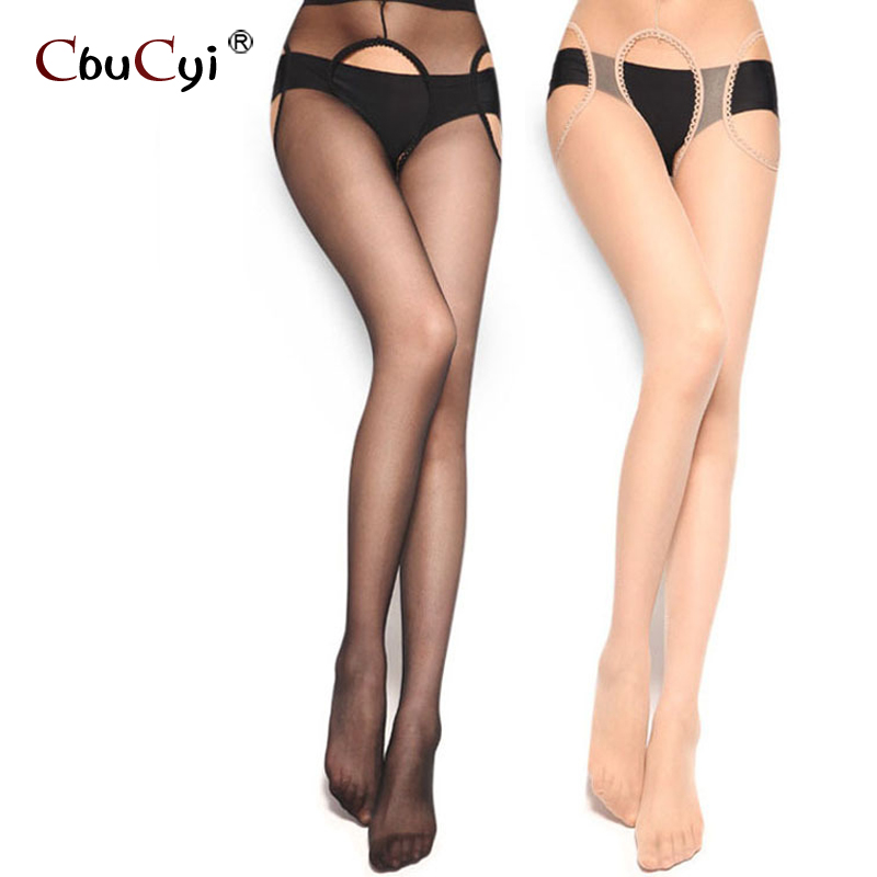 Open crotch stockings transparent seamless nets tights sexy 2 color woman nylon