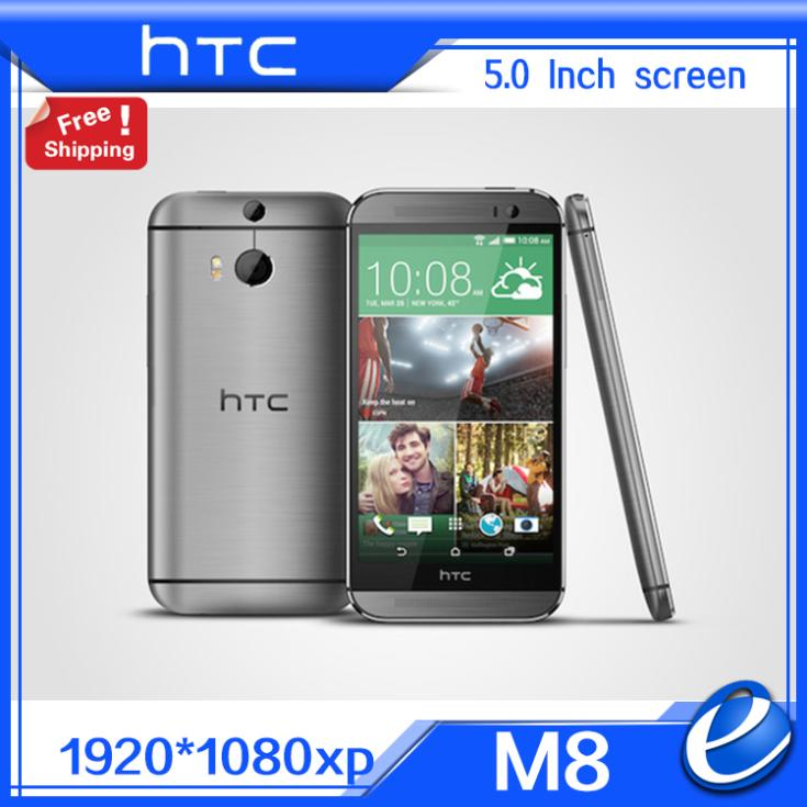 "HTC 2 GB 32 GB Mobile Phone 5.0 ""4MP refurbished One M8 Unlocked GSM 3G 4G 3 Cameras"