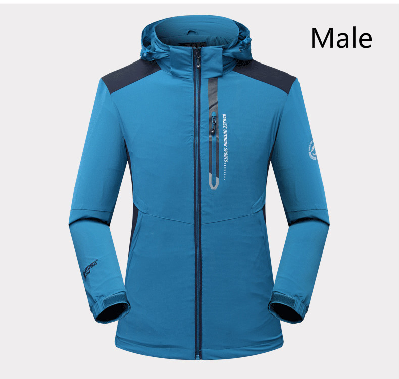 17 spring and autumn new outdoor couple waterproof breathable single layer assault clothing men's and women's climbing suits|Hiking Jackets| |  - title=