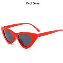 YOOSKE Sexy Triângulo Pequeno Quadro Óculos de Sol Do Olho de Gato Óculos  De Sol Das Mulheres Do Vintage Senhoras UV400 Oceano Ó.. ef4a2ac011