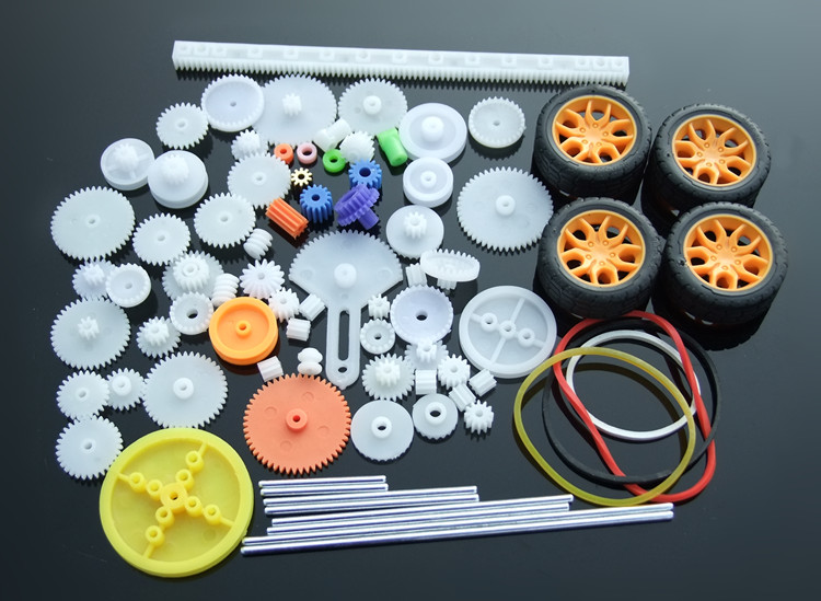 2017 New 78 Type DIY Gear Pack Toy Car Parts Motor Gear Axle Kit