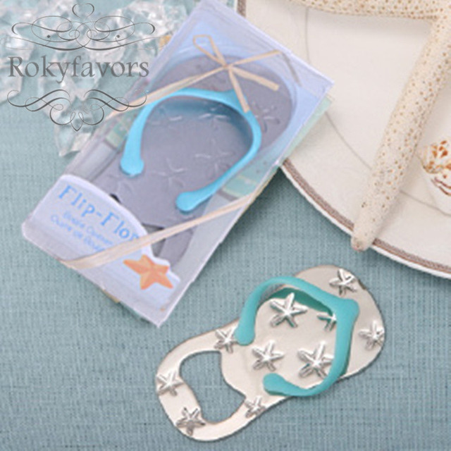 Free Shipping 50pcs Beach Theme Flip Flop Bottle Opener With Sea