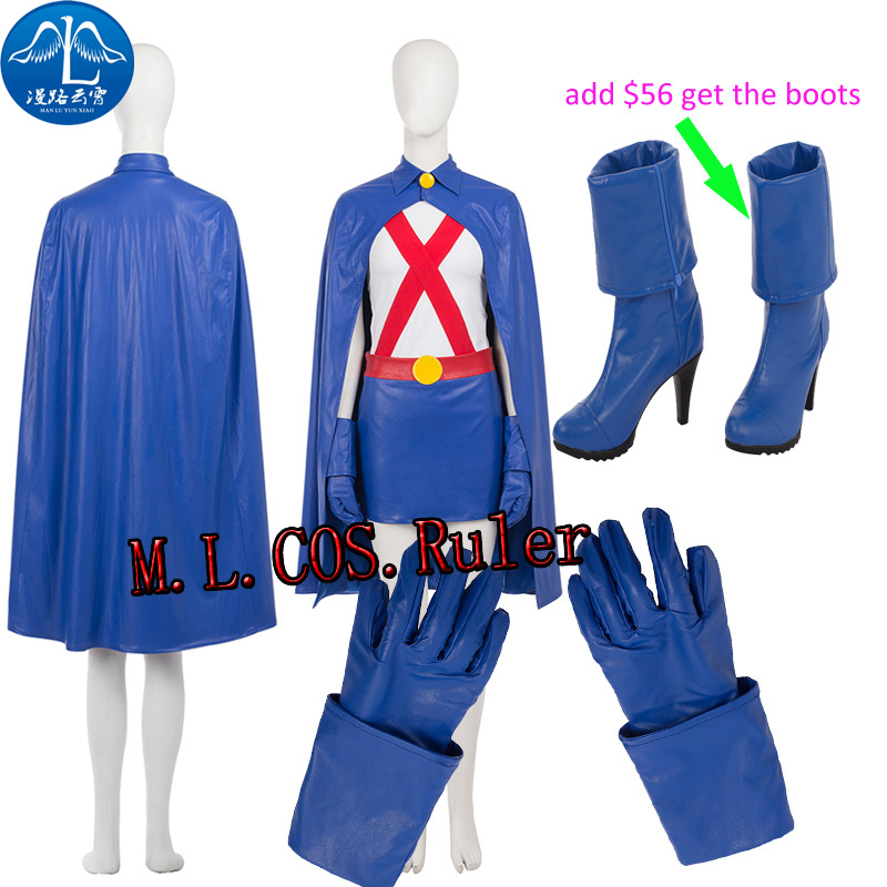 Young Justice Newest Original Anime&Movie COS Super Woman Young Justice Miss Martian Cosplay Costume Halloween Free Shipping