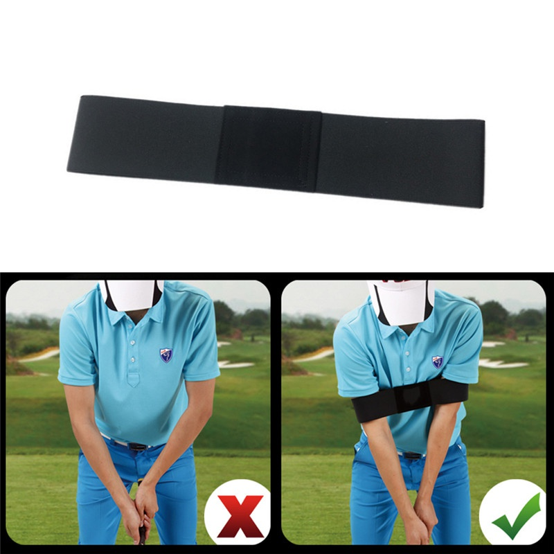 Elastic Nylon Golf Arm Band Posture Motion Correction Belt Golf Beginner Swing Training Aids Durable Golf Training Accessories