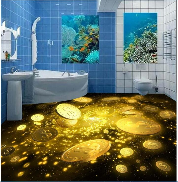 ФОТО 3d pvc flooring custom photo bedroom waterproof floor Beautiful gold star painting 3d wall murals wallpaper for walls 3 d