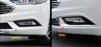 High Quality For Ford Mondeo Fusion 2017 2018 Front Fog Light Lamp Eyelid Eyebrow Cover Trim