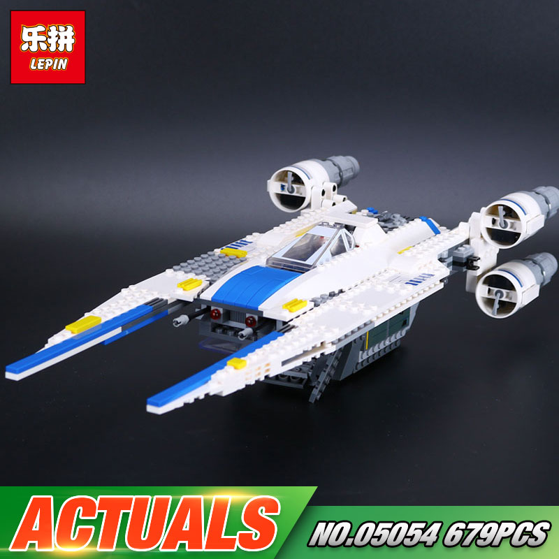 New 679pcs Lepin 05054 Star Series War Genuine The 75155 U Model Wing Fighter Set Building Blocks Bricks New Toys For Kids Gifts конструктор lepin star plan истребитель повстанцев u wing 679 дет 05054