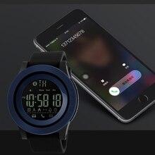 SKMEI Hommes Smart montres Podomètre Calories Chronographe Mode SmartWatch Chronographe Numérique Étanche Sport montres