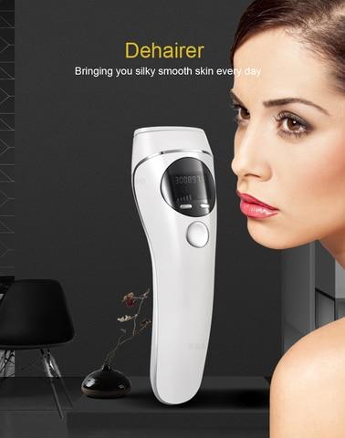 2019 removedor de cabelo a laser depilador permanente display lcd m quina indolor depilador rosto