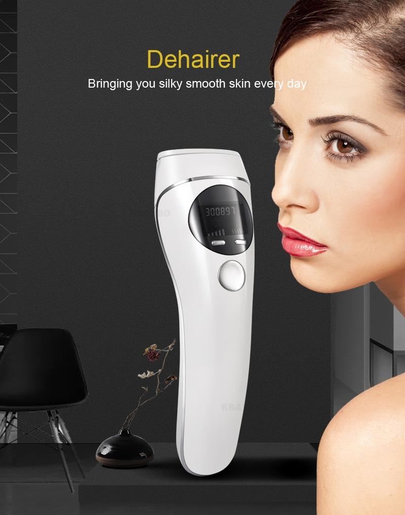 permanente display lcd máquina indolor depilador rosto