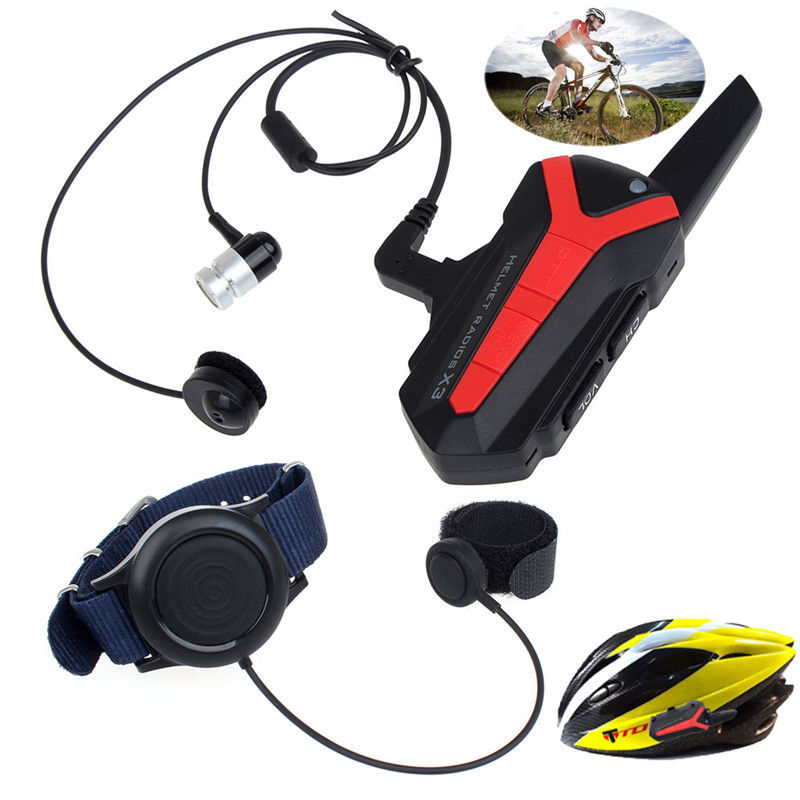 ФОТО Free shipping! Handsfree Intercom Bluetooth Group Interphone Bicycle Bike Helmet+Remote Control X3 Plus