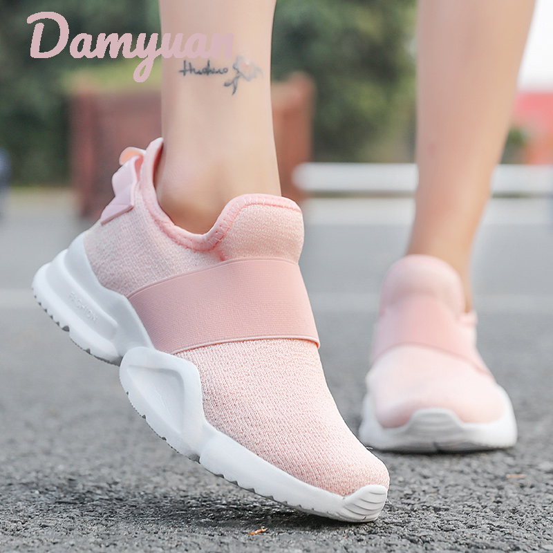 Damyuan 2019 New Fashion Classic Shoes Women Flyweather Comfortables Breathable Non-leather Casual Lightweight SlipOn Mesh ShoesDamyuan 2019 New Fashion Classic Shoes Women Flyweather Comfortables Breathable Non-leather Casual Lightweight SlipOn Mesh Shoes